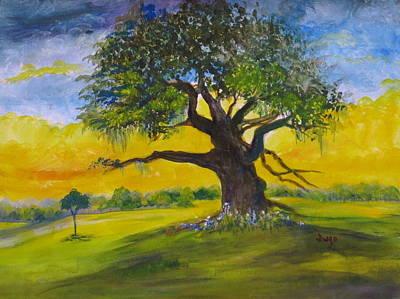 Duelling Oak Original by Jacqueline Juge