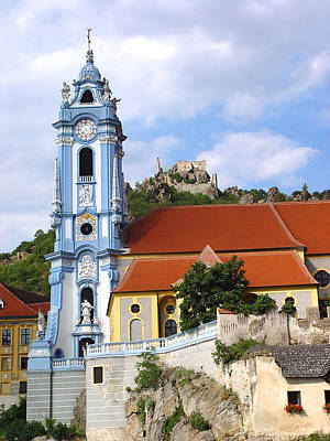 Photograph - Duernstein Castle And Baroque Blue Tower Church by Menega Sabidussi