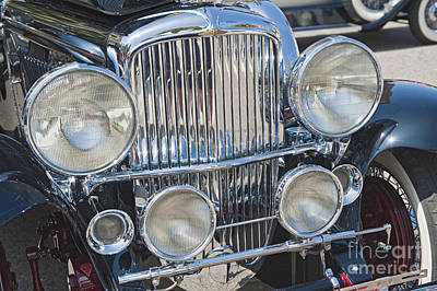 Photograph - Duesenberg Front Chrome Automobile Grille 2 by David Zanzinger