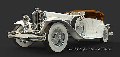 Digital Art - Duesenberg by William Ladson
