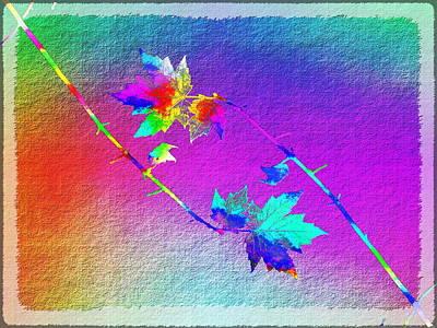 Red Leaf Digital Art - Duet In The Treetops by Tim Allen