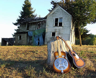 Dobro Photograph - Duet In Waiting by Everett Bowers