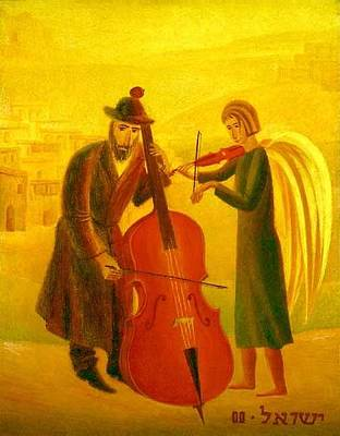 Painting - Duet by Israel Tsvaygenbaum