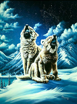 Snow Painting - Duet by Lori Salisbury