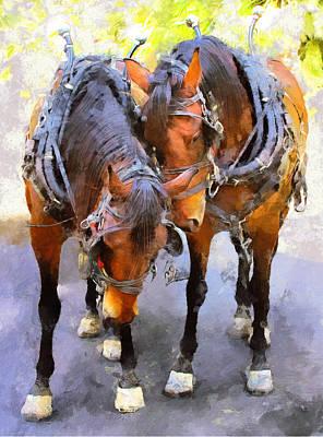 Harness Racing Painting - Duet by Viktor Savchenko