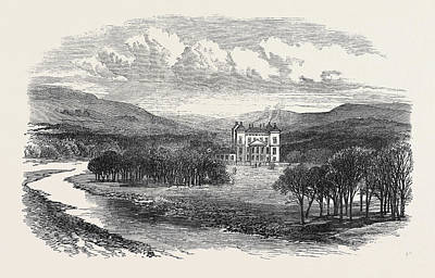 Fife Drawing - Duff House Near Banff The Seat Of The Earl Of Fife 1871 by English School