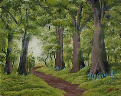 Art Print featuring the painting Duff House Walk by Charles and Melisa Morrison