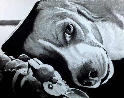 Beagle Painting - Duffy by Scott Robinson
