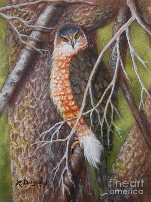 Painting - Dugan's Hawk by Lora Duguay