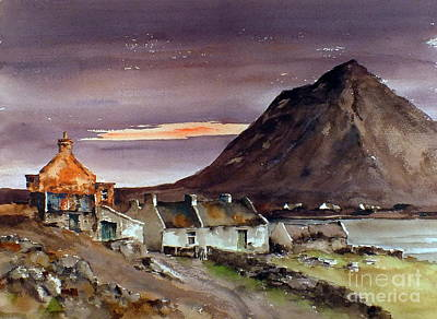 Mixed Media - Dugort Achill Island Mayo by Val Byrne