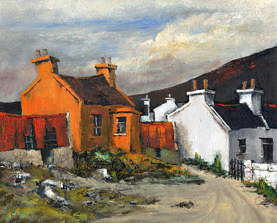 Painting - Dugort Achill Mayo by Val Byrne