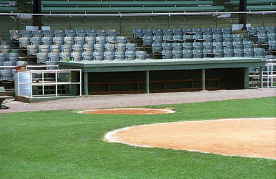 Photograph - Dugout At The Old Ballpark by Frank Romeo