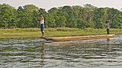 Dugout Canoe In The Rapti River In Chitin National Park-nepal Original by Ruth Hager