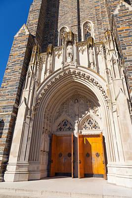 Photograph - Duke Chapel Entrance by Melinda Fawver