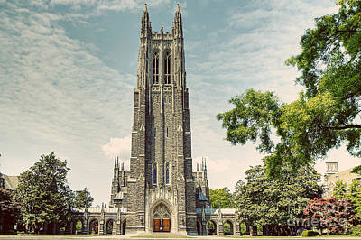 Duke Chapel With A Vintage Feel Art Print by Emily Kay