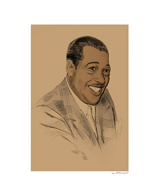 Drawing - Duke Ellington by Clifford Faust