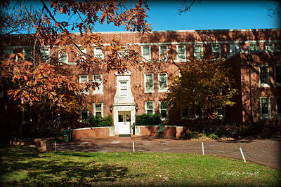 Photograph - Duke Hall - Davidson College by Paulette B Wright
