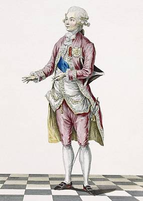Royal Court Drawing - Duke In Country Attire Decorated by Pierre Thomas Le Clerc