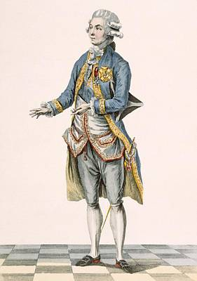 Aristocrat Drawing - Duke In His Ceremonial Attire Pictured by Pierre Thomas Le Clerc