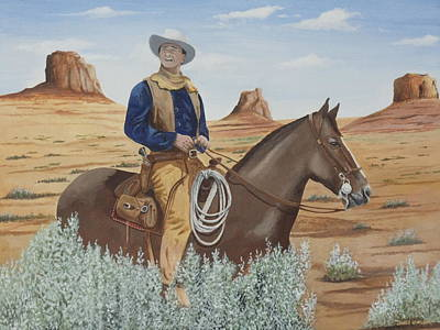 Painting - Duke In The Sagebrush by James Lawler