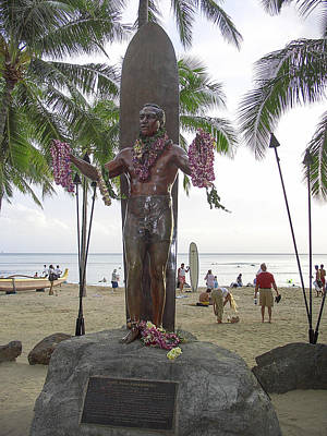 Duke Kahanamoku Of Hawaii Art Print