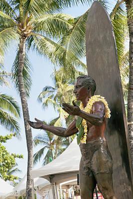 Duke Kahanamoku Statue Art Print by Brandon Tabiolo