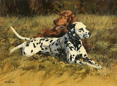 Irish Painting - Duke N Dooley by Don  Langeneckert