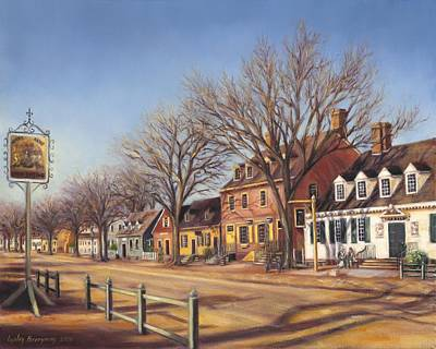Colonial Williamsburg Painting - Duke Of Gloucester Street From King's Arms Tavern by Gulay Berryman
