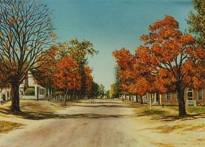 Colonial Williamsburg Painting - Duke Of Gloucester Street In Autumn by Gulay Berryman