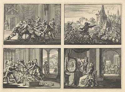 Duke Of Guise Murdered In The Castle At Blois, 1588 Art Print by Quint Lox