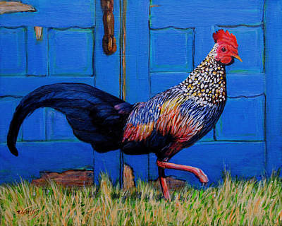 Duke The Rooster Art Print by Charles Wallis