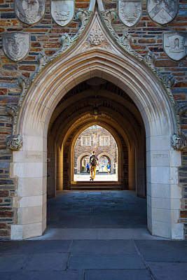 Photograph - Duke University Arches by Melinda Fawver