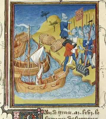 Aristocrat Photograph - Duke William Invades England by British Library
