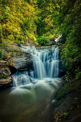 Photograph - Dukes Creek Falls by John Haldane