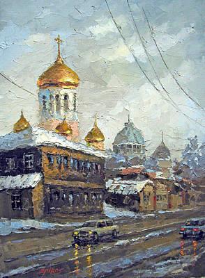 Crosswalk Painting - Dull Landscape by Dmitry Spiros