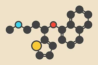 Duloxetine Antidepressant Drug Molecule Art Print