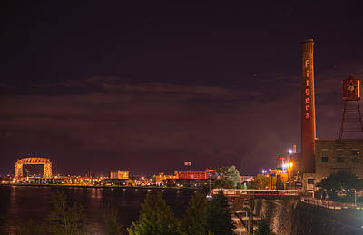 Duluth At Night II Art Print by Shane Mossman