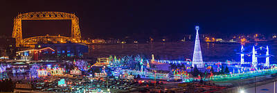 Duluth Christmas Lights Art Print by Paul Freidlund