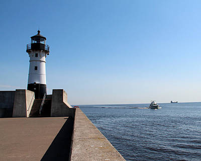 Photograph - Duluth Harbor North Breakwater Lighthouse by George Jones