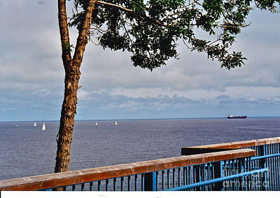 Photograph - Duluth Harbor View by Barbara Plattenburg