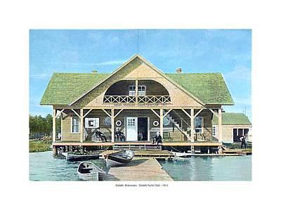 Duluth Digital Art - Duluth Minnesota - Duluth Yacht Club - 1915 by John Madison
