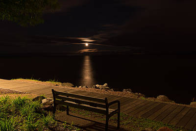 Duluth Moon  Art Print by Shane Mossman