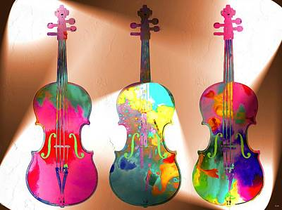Violine Painting - Dum Dum Diddle To Be Your Fiddle To Be So Near You And Not Just Hear You by Daniel Janda