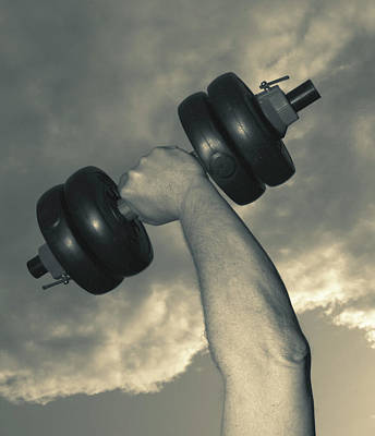 Weightlifting Wall Art - Photograph - Dumb-bell by Bluestone/science Photo Library