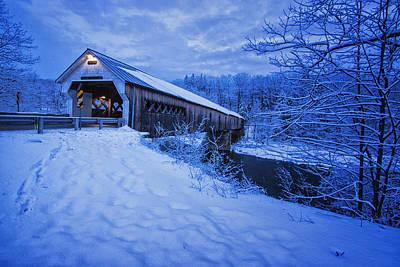 Dummerston Bridge In Winter Art Print