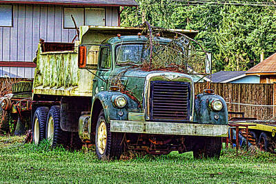 Photograph - Dump Truck by Ron Roberts