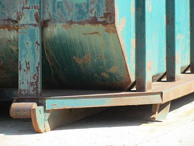 Photograph - Dumpster Rust 1 by Anita Burgermeister