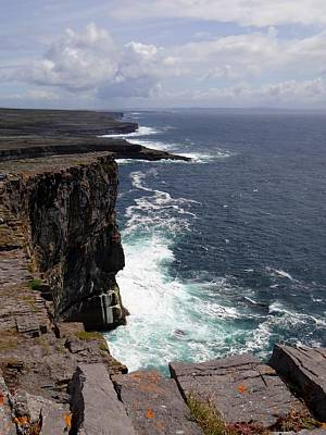 Photograph - Dun Aengus Cliffs by Keith Stokes