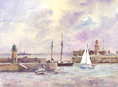 Dun Laoghaire Harbour County Dublin Art Print