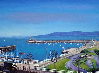 Dun Laoghaire Pier Dublin Art Print by John  Nolan